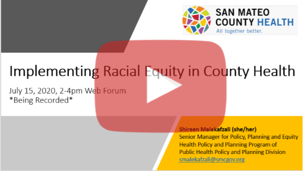 Implementing Racial Equity in County Health
